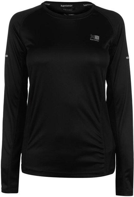 Karrimor lange mouw hardloop shirt - Runningshirt - Dames -Zwart - L (14)