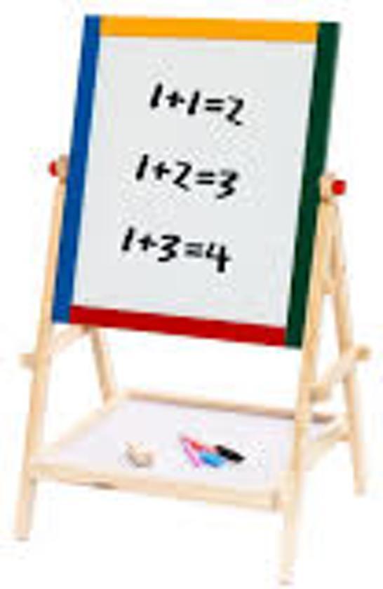 Voor kinderen houten krijtbord blackboard & whiteboard met plank