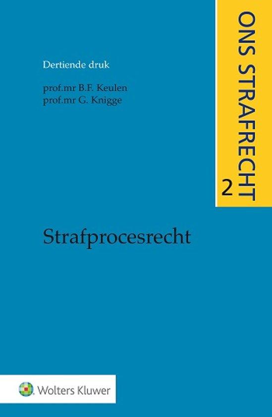Boek cover Ons strafrecht 2 - Strafprocesrecht van B.F. Keulen (Onbekend)
