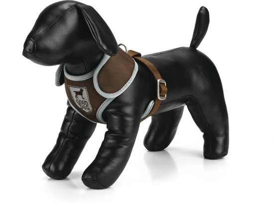 Polyester borsttuig Gooddog - Bruin - verstelbaar
