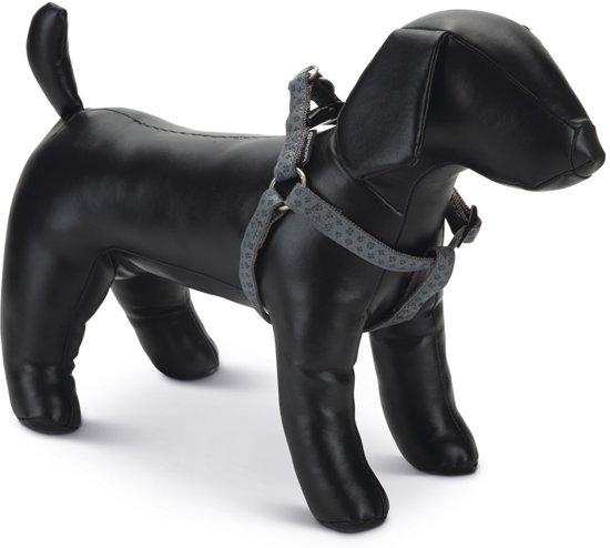 Beeztees - Borsttuig Hond - MacLeather - Grijs - 35-60 cm