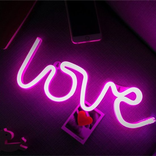 bol.com | Love roze lamp led verlichting neon look