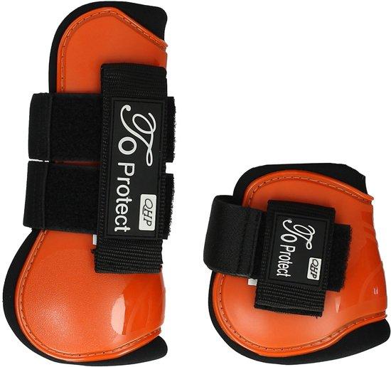 Qhp Peesbeschermerset  Protect - Mid Orange - paard