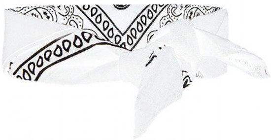 Vintage bandana zakdoek, Wit