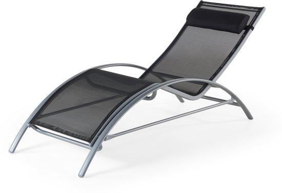 Ligstoel Tuin Aluminium : Bol beliani catania ligstoel aluminium zwart