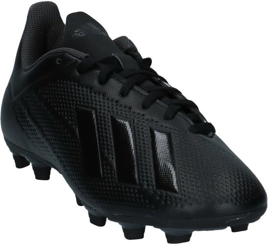 adidas X 18.4 Fg Voetbalschoenen Heren - Core Black/Ftwr White/Dgh Solid  Grey - Maat 42 2/3