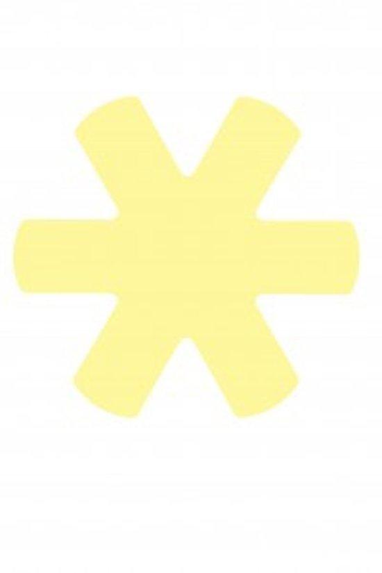 Papillon Panbeschermer Ster - 38 cm - Geel pastel set 3 stuks polyester