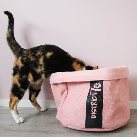 District 70 COZY Kattenmand - Roze - 35 x 35 x 30 cm