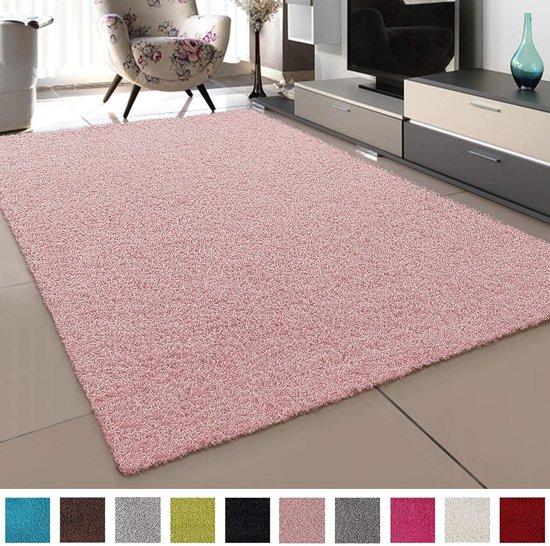 Hoogpolig Vloerkleed Loca 80x150 - Licht Roze