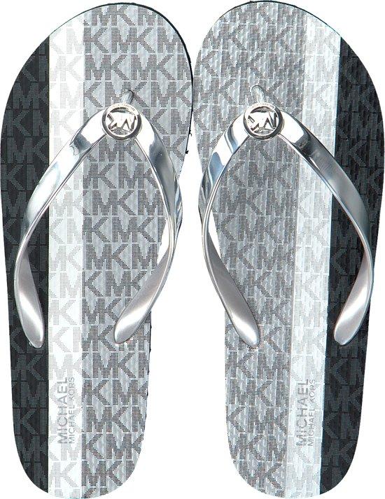 Michael Kors Dames Teenslippers Mk Flip Flop - Zilver FCLEUUpY