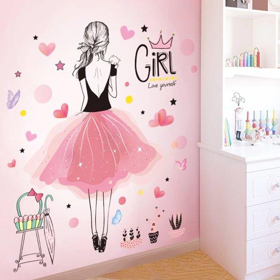Decoratie Meisjes Babykamer.Bol Com Decoratie Stickers Muur Wand Voor Slaapkamer