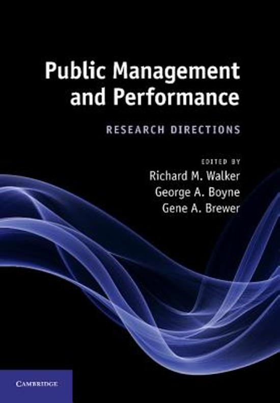 public governance and management