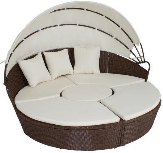bol com   TecTake   Lounge Set tuinset tuinmeubels eiland wicker bruin 401112
