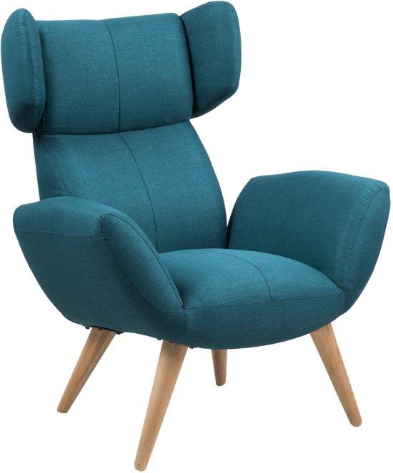 Blauwe Relax Stoelen.Bol Com 24designs Fauteuil Baldwin Stof Petrol Blauw