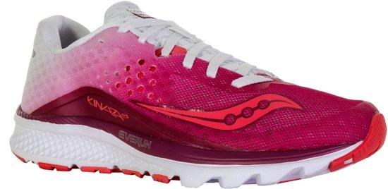 Saucony Kinvara 8 hardloopschoenen Dames  Hardloopschoenen - Maat 38.5 - Vrouwen - roze/wit