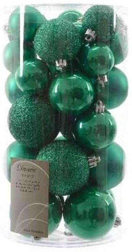 Bol Com Kerstballen Mix Groen 30 Stuks Plastic Kerstballen