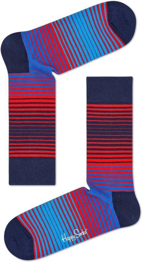 da576331292 bol.com | Happy Socks Sunrise Stripe Sokken - Blauw/Rood/Zwart ...