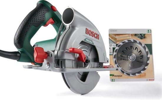 Bosch PKS 55 A Cirkelzaag – 1200 Watt - 55 mm zaagdiepte - Geleverd met in totaal 2 cirkelzaagbladen waarvan 1 extra Precision cirkelzaagblad 160X2X20/16,T18 (1) twv 70,99
