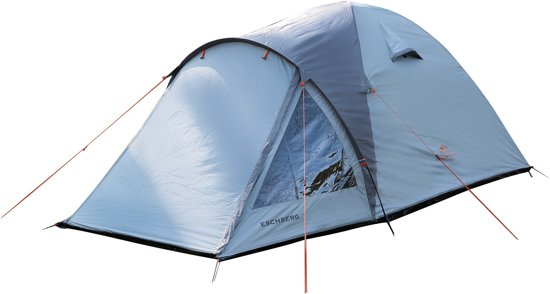 Dutch Mountains - Tent Eschberg - Ruime 2 persoons iglo tent - 210L x 160B - Opgezet in 10 min - Extra donkere binnentent