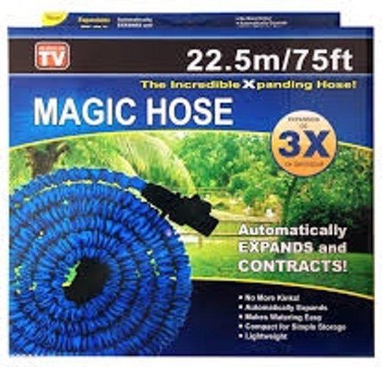 Magic Hose - Flexibele elastische tuinslang - 22,5 meter - inclusief accessoires