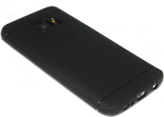 Siliconen hoesje zwart Samsung Galaxy S7