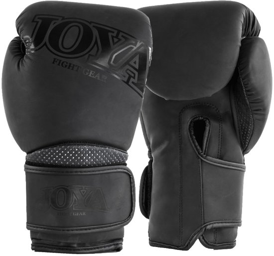 Joya Fight Gear Metal Kickboxing - (kick)bokshandschoenen - Synthetisch leer - 16oz - matzwart
