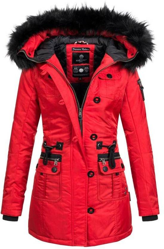 Winterjas Dames Extra Warm.Bol Com Marikoo Warm Dames Winter Jas Winterjas Rood