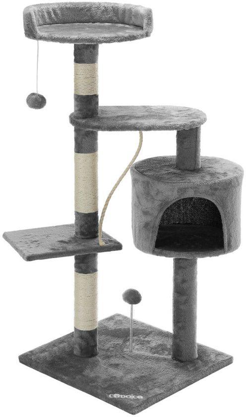 Krabpaal, kattenkrabpaal, kattenpaal, 112 cm, grijs