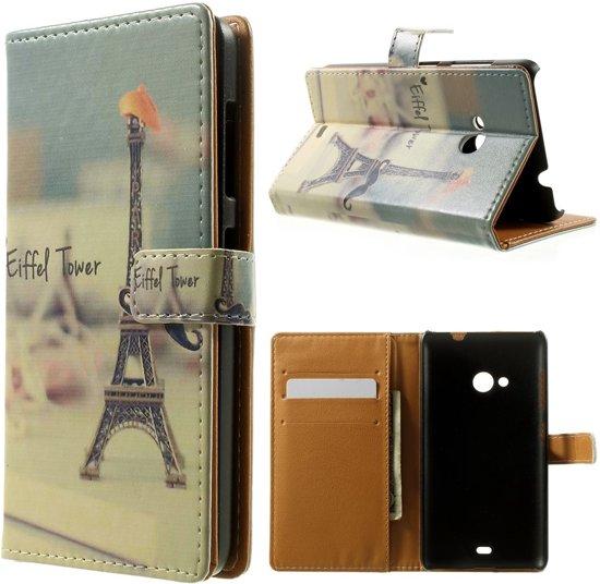 Microsoft Lumia 535 Cover Wallet Stand Eiffentoren in Wieze