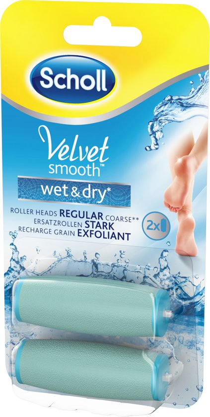 Scholl Velvet Smooth Wet & Dry Roller Heads Regular 2pcs