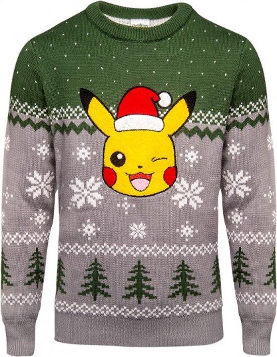 Warme Kersttrui.Bol Com Difuzed Pokemon Kersttrui Pikachu Maat S Grijs