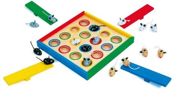 Afbeelding van het spel spring muisjes houte bordspel