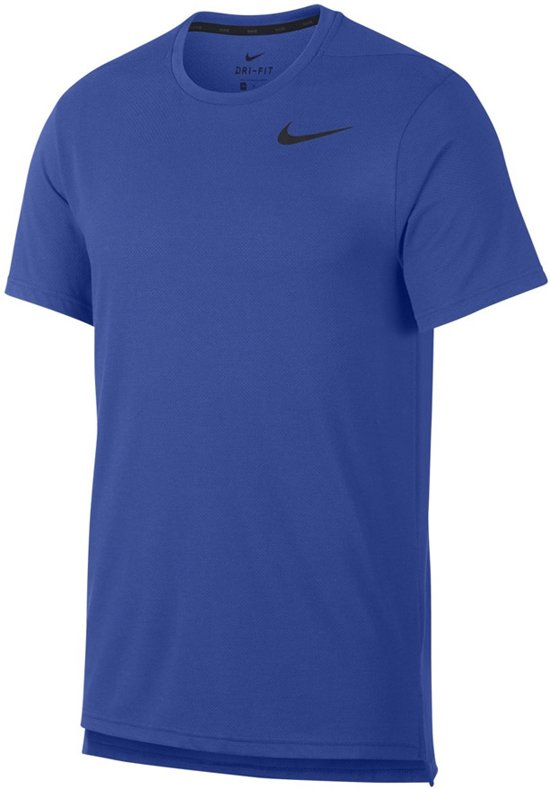 Nike Breath Top Ss Hyper Dry Sportshirt Heren - Blauw
