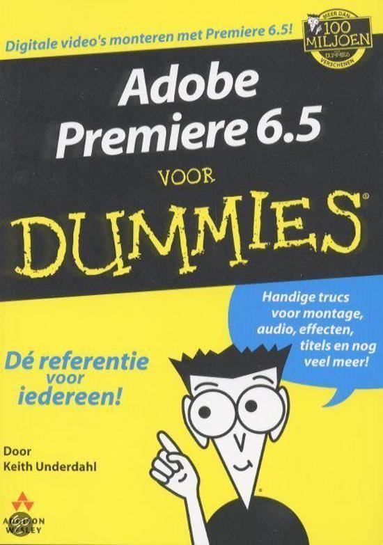 Bol Adobe Premiere 65 Voor Dummies K Underdahl