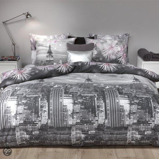 Refined City Celebration flanel dekbedovertrek - Grey - Lits-jumeaux (260x200/220 cm + 2 slopen)