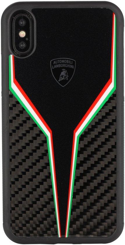 Lamborghini backcover hoesje D2 Serie Apple iPhone XR Zwart - Silicone - TPU