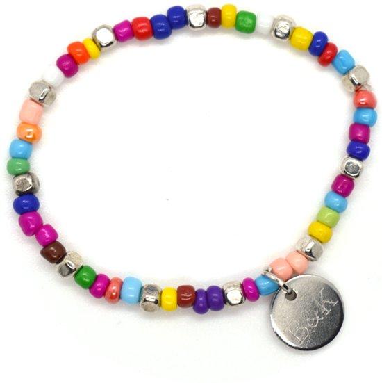 Armbandje Meisje Kinderen Kralen - Kleurrijk