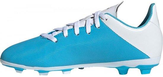 Adidas X 19.4 FxG Jr Voetbalschoenen GrasKunstgras (FGAG) blauw licht 30