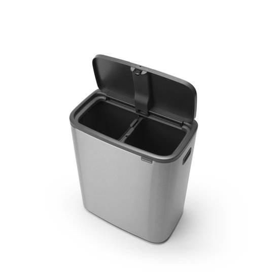 Brabantia Bo Touch Bin 2 x 30 Liter Staal Vingerafdruk Proof