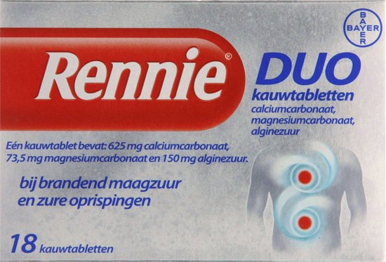 Bolcom Rennie Duo 18 Tabletten Maagzuurremmers