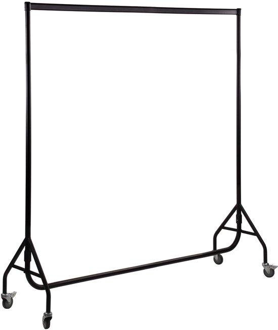 Galantha kledingrek extra sterk 200 cm - Poedercoating zwart - bxhxd 200x158x54 cm