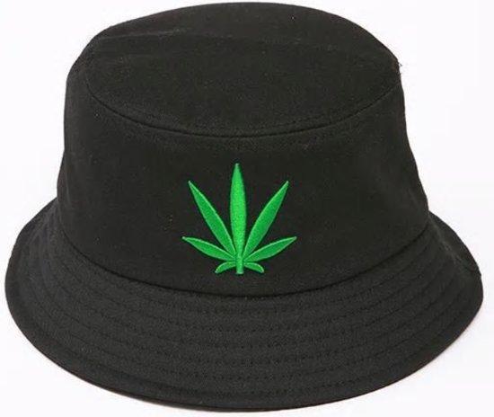 1324f60139e805 Bucket hat - Cannabis - Vissershoedje - Zonnehoedje - Vissers Hoed - Hiking  - Zwart