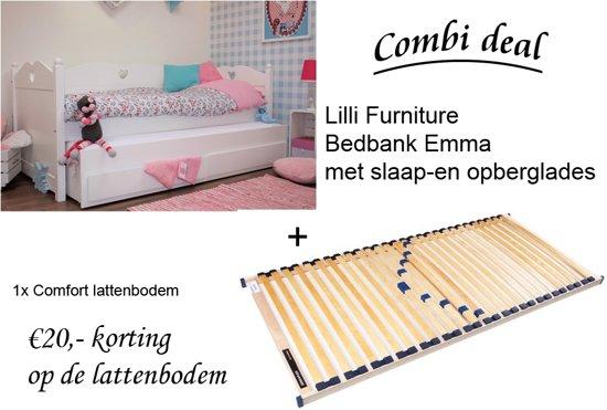 Bedbank En Logeerbed.Bol Com Lilli Furniture Emma Bedbank Met Uitschuifbaar