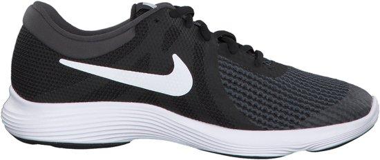 Nike Revolution 4 (GS) Sneakers - Maat 40 - Unisex - zwart/wit/grijs