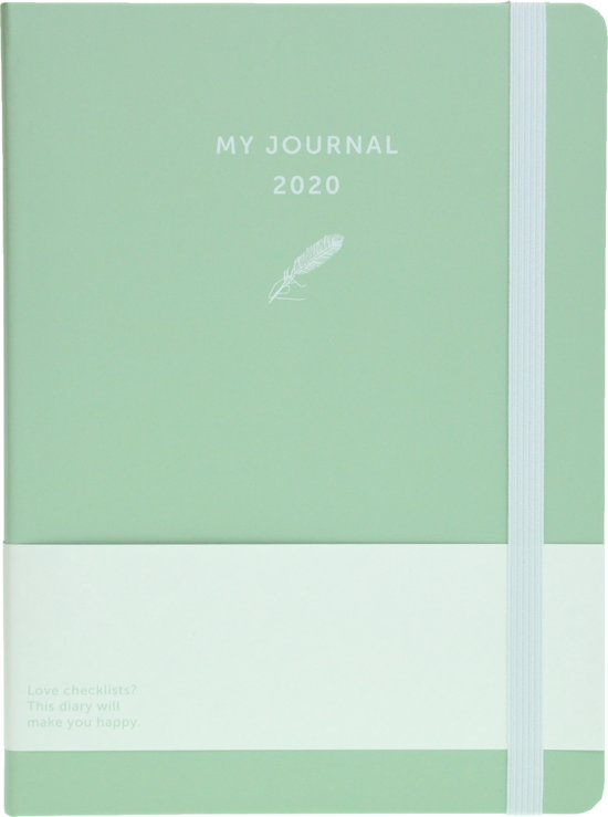 My Journal agenda 2020 - Mintgroen
