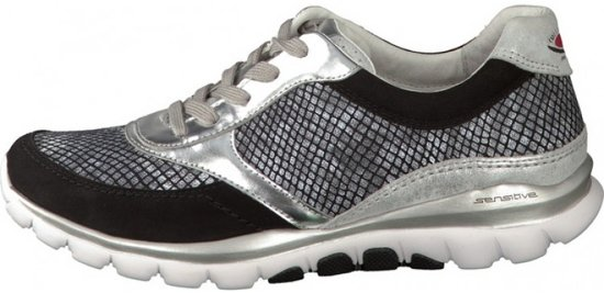 Gabor Rollingsoft Dames Lage sneakers - Zwart - Maat 38