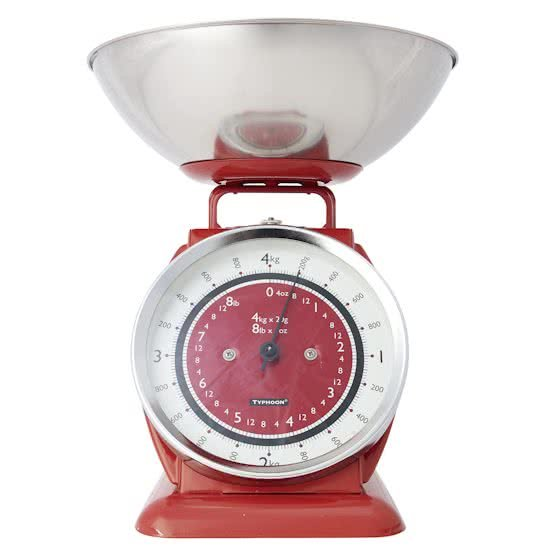 Typhoon BELLA Tafelblad Mechanical kitchen scale Rood