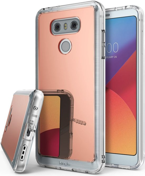 Ringke Fusion Mirror LG G6 Spiegel Cover Rose Gold in Francorchamps