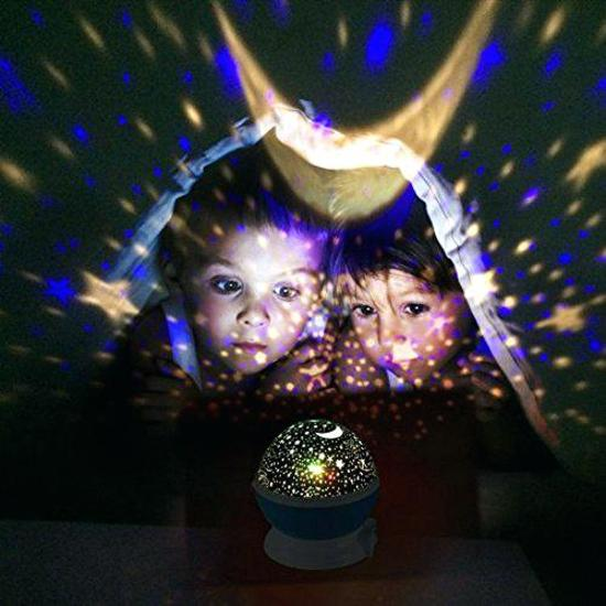Sterrenhemel Verlichting Kinderkamer - Moon Light Projector - Nachtlampje kind | baby - nachtlamp - Snoezellamp - Spacelamp - Cadeau kind + Bijbehorende oplaadkabel!(ZWART)