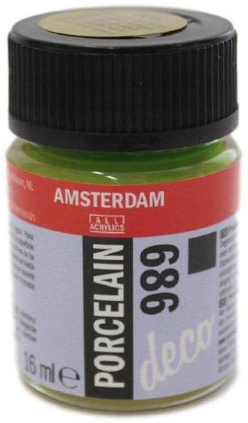 Amsterdam deco porcelain 686 Olijfgroen Dekkend porseleinverf